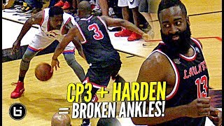 Download James Harden & Chris Paul TEAM UP at DREW LEAGUE & SHOW OUT w/ Dwayne Wade Watching!! Video