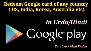 Google Play Card - USA Redeem Code Used in Nepal and India