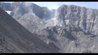 Download Time-lapse images of Mount St. Helens dome growth 2004-2008 Video