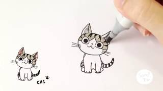 Download วาดแมวจี้กันจ้าา ♪ How to draw Chi cat from Chi's sweet home Video