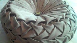 Download Canadian smocking/capitone round cushion by Debbie Shore. Matrix design. Video