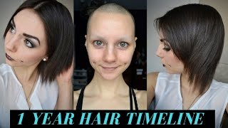 Download 1 Year Hair Growth Timeline (Bald & No Eyebrows) Video