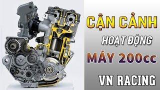 Download Hoạt động của cây CAM trong xe 200cc ở vòng tua máy 14.000 Video