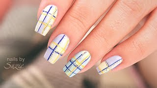 Download Plaid Inspired Nails using Drugstore Nail Polish Video