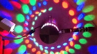 Download Inside an LED spiral wall light. Video