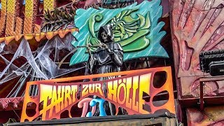 Download Fart Hole Dark Ride Complete POV! Oktoberfest Germany - Traveling Fair Haunted House Attraction Video