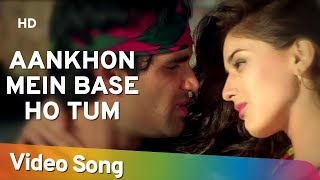 Download Aankhon Mein Base Ho Tum (Duet) | Sunil Shetty | Sonali Bendre | Takkar | Bollywood Songs | Abhijeet Video