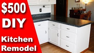 Download How To: $500 DIY Kitchen Remodel | Update Counter & Cabinets on a Budget Video