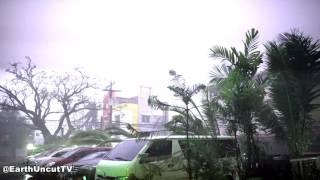 Download Lightning Filled Typhoon Haima / Lawin Smash Tuguegarao Philippines 4K Video