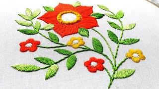 Download Cute embroidery designs!The best Hand Embroidery Flower video tutorial by Miss Anjiara Begum Video