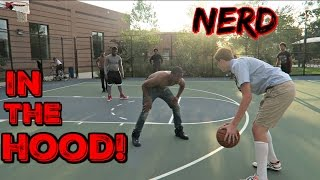 Download Nerd Plays Basketball In The HOOD! Video