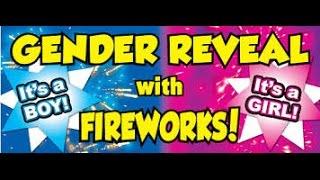 Download GENDER REVEAL FIREWORKS DISPLAY Video