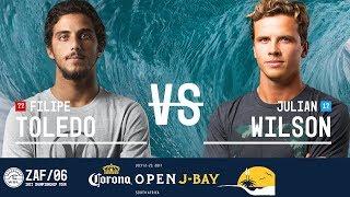 Download Filipe Toledo vs. Julian Wilson - Semifinals, Heat 2 - Corona Open J-Bay 2017 Video