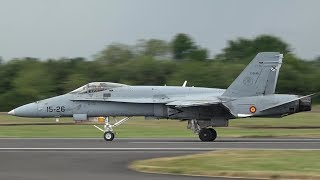 Download Spanish Air Force EF-18 Hornet - Pushing the limits at RIAT Video