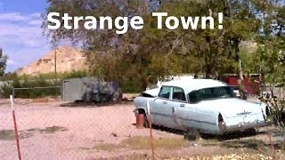 Download Another Strange Odd Creepy Town In Nevada Desert Near Area 51! Abandoned Cars & Trucks Video