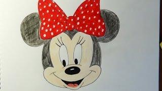 Download How to draw Minnie Mouse, Como dibujar Minnie Mouse, Как нарисовать Минни Маус Video