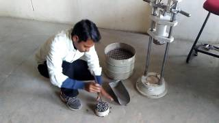 Download Impact test of aggregate. Video