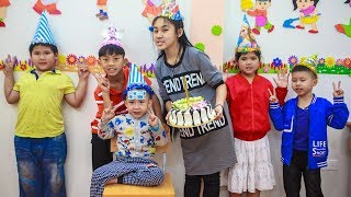 Download Kids Go To School | birthday Chuns Best friend's Make a Birthday Cake At Home New Video
