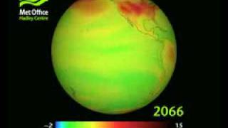 Download UK Met Office - Projection of Temperature Rise to 2100 Video