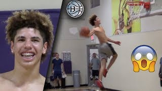 Download LaMelo Ball CRAZY WINDMILL DUNK! 1 Week After Dropping Out of CHINO HILLS has INSANE BOUNCE! Video