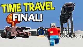 Download LEGO ALIEN ROBOTS ATTACK LEGO TIME TRAVELER! - Brick Rigs Gameplay Challenge - Lego Movie Survival Video