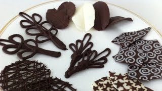 Download how to make chocolate garnishes decorations tutorial PART 2 how to cook that ann reardon Video