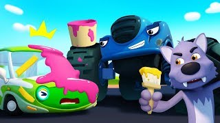 Download Monster Police Car Chases Trouble Maker | Police Cartoon | Nursery Rhymes | Kids Songs | BabyBus Video