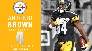 Download #4: Antonio Brown (WR, Steelers) | Top 100 Players of 2017 | NFL Video