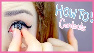 Download The Easiest Way to Put in Contact Lenses (My Weird Method) Video
