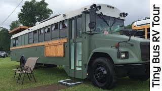 Download Spectacular Tour Of Tiny House School Bus RV Conversion Camper Video