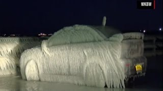 Download Frozen Car   Car Parked in Lake Erie is Completely Frozen... Let it Go... Video
