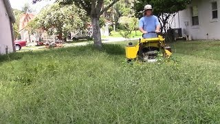 Download Lawn care vlog #48 Extra thick yard clean up - Tall grass mowing Video