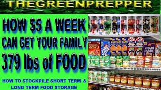 Download HOW $5 A WEEK CAN GET YOUR FAMILY 379 lbs of FOOD - STOCKPILE SHORT & LONG TERM FOOD STORAGE Video
