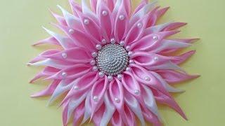 Download DIY Crafts : How to Make Beautiful Kanzashi Satin Ribbon Flower | DIY Girls Hair Accessories Video