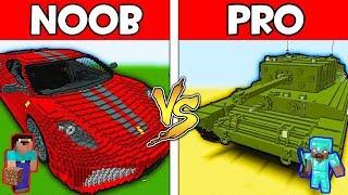 Download Minecraft - NOOB vs PRO : CAR vs TANK in Minecraft ! AVM SHORTS Animation Video
