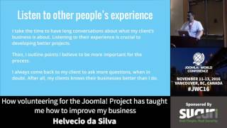 Download JWC 2016 - How volunteering for the Joomla! Project has... - Helvecio da Silva Video