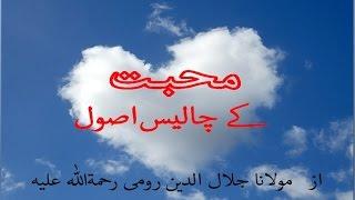 Download محبت کے 40 اصول- مولانا جلال الدین رومیؒ (Maulana Rumi R.A) Video