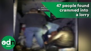 Download 47 people found crammed into a lorry at Romania border Video