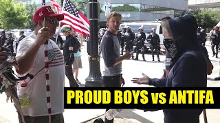 Download Proud Boys vs ANTIFA in Portland OR, 8/4/18 (re-color) Video