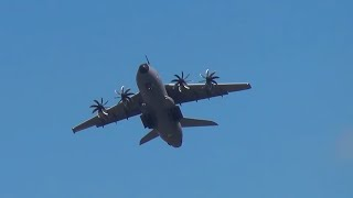 Download Aerobatic Airbus A400M Takes Off Quick, Before A380 Lands. Video