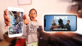 Download Kid Breaks Brother's Phone Over Fortnite Mobile (Rage) Video