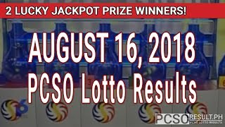 Download PCSO Lotto Results Today August 16, 2018 (6/49, 6/42, 6D, Swertres, STL & EZ2) Video
