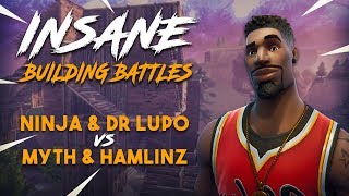 Download Insane Building Battles!! Ninja & Lupo vs TSM Myth & Hamlinz - Fortnite Tournament Game 2 Video