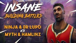 Download Insane Building Battles!! Ninja & Lupo vs TSM Myth & Hamlinz - Fortnite Tournament Game 2 Video