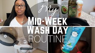 Download MY MID-WEEK WASH DAY ROUTINE + SCARF METHOD | RELAXED HAIR Video
