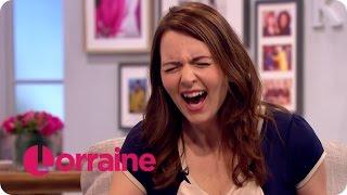 Download Debra Stephenson Impersonates Lorraine's Laugh | Lorraine Video