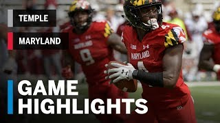Download Highlights: Temple at Maryland | Big Ten Football Video