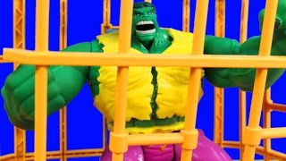 Download Incredible Hulk Electronic Rage Cage With solomon Grundy Imaginext Wrestler Video