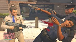 Download Sly Gameplay - GTA 5 Trevor And Michael's Vespucci Beach Police Station Assault/Five Star Escape Video