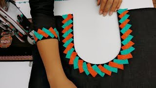 Download Very latest and creative neckline and sleeves design making Video